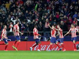 Angel Correa (3R) netted the only goal of the game.EFE