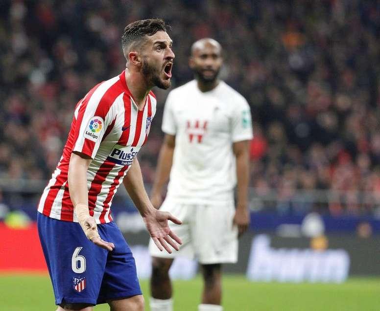 El Atlético sufre ante los siete primeros. EFE
