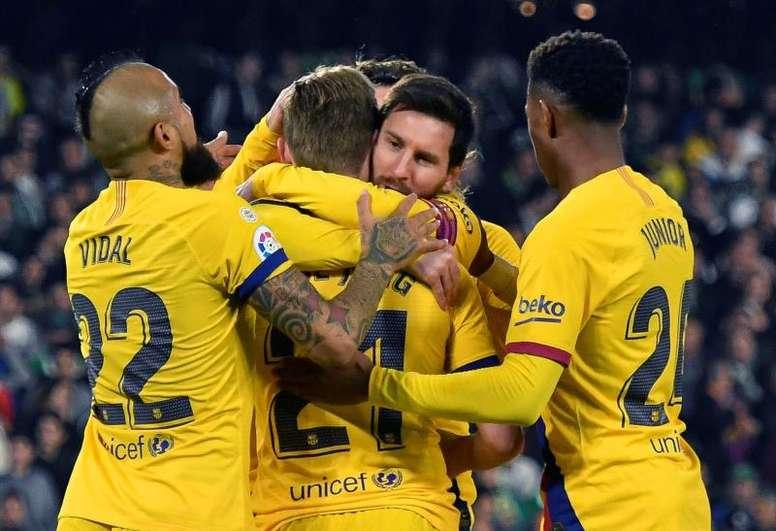 El Barça le gana al Betis. EFE