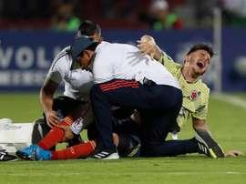 La Federación Colombiana ya informó al América del alcance de la lesión de Benedetti. EFE