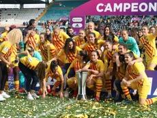 El Barça Femenino está dispuesto a ganarlo todo. EFE