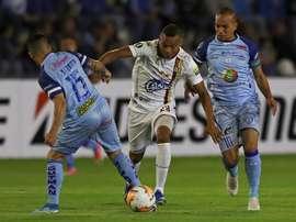 Deportes Tolima se impuso por la mínima a Macará en la ida. EFE
