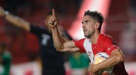 Un gol de Hauche salvó a Argentinos de la derrota. EFE/Juan Ignacio Roncoroni