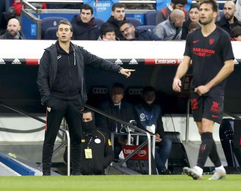 El Sevilla se enfrenta al Espanyol en Liga. EFE