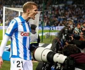Real Sociedad hope to have Odegaard for another season. EFE/Juan Herrero