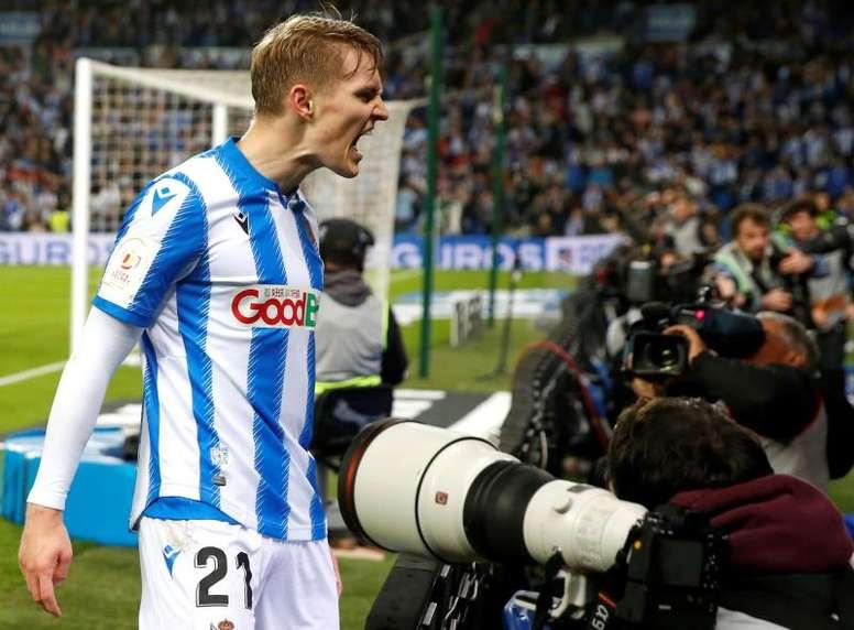 Odegaard veut rester à la Real Sociedad. afp