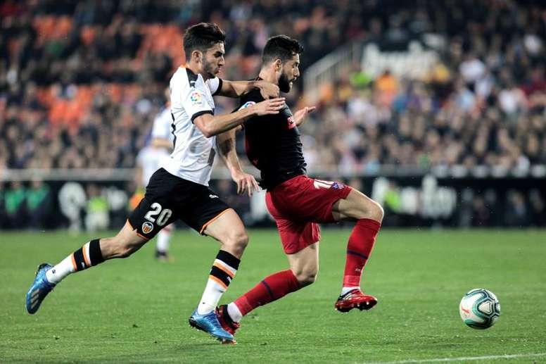 Valencia y Atlético empataron en Mestalla. EFE/BIEL ALIÑO