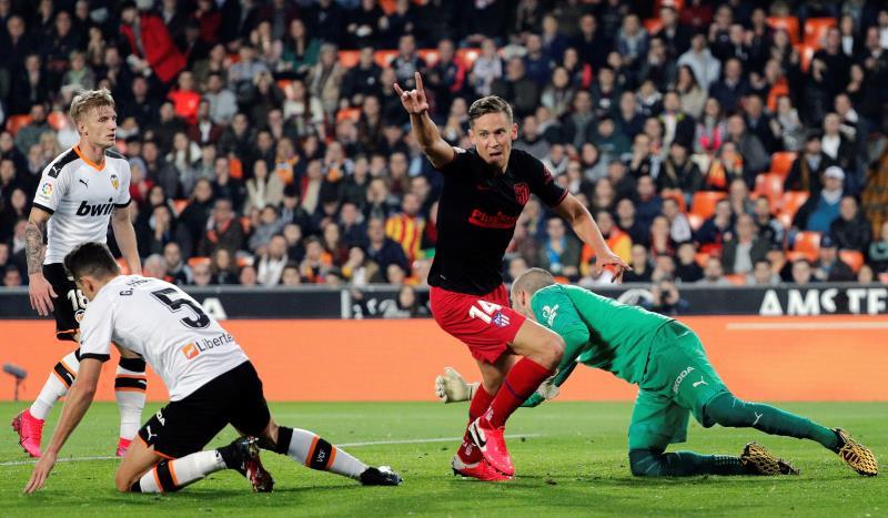 Valencia y Atlético empataron en Mestalla