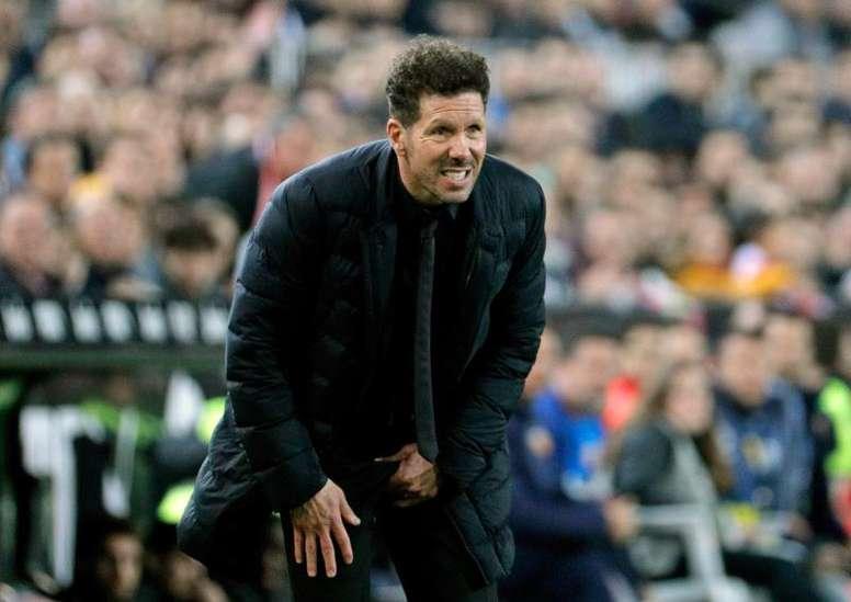 Simeone elogió el buen partido del Valencia. EFE