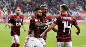 Flamengo e Athletico Paranaense pela Supercopa do Brasil 16-02-20. Twitter/Flamengo