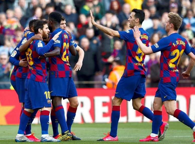 Le groupe du FC Barcelone pour affronter Naples en Ligue des Champions. EFE