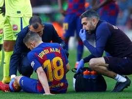 Barça confirma lesão de Alba no músculo adutor. EFE