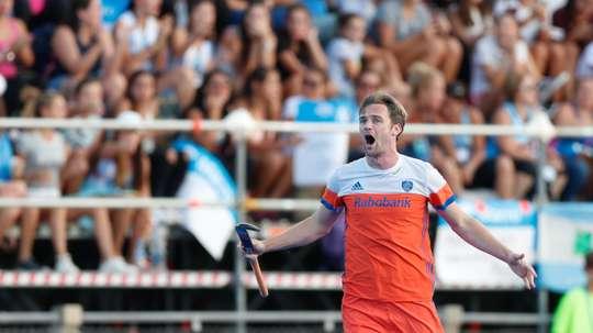 En la imagen, el jugador Mirco Pruijser de Holanda. EFE/Juan Ignacio Roncoroni/Archivo