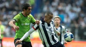 Funes Mori anotó el gol de Monterrey. EFE/Miguel Sierra