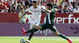 Ocampos encontró portería ante el Espanyol. EFE