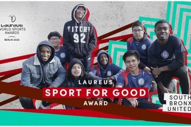 El programa de fútbol neoyorquino South Bronx United, reconocido con el premio Laureus Sport for Good 2020. EFE/Laureus