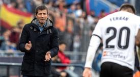 L'entraîneur de Valence ne baisse pas les bras. EFE