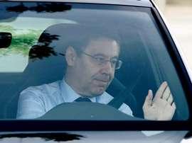 Bartomeu em mais um problema, a crise dos vice-presidentes. EFE/Alejandro García