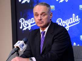 El comisionado de la Liga Mayor de Béisbol Rob Manfred. EFE/LARRY W. SMITH/Archivo