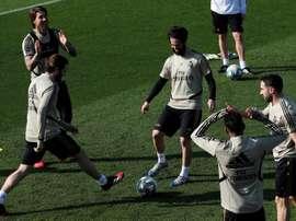 Zidane teve ausências no último treino antes de viajar a Sevilla. EFE/Chema Moya/Arquivo