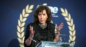 La presidenta del CSD, Irene Lozano, durante la gala. EFE/Luca Piergiovanni/Archivo