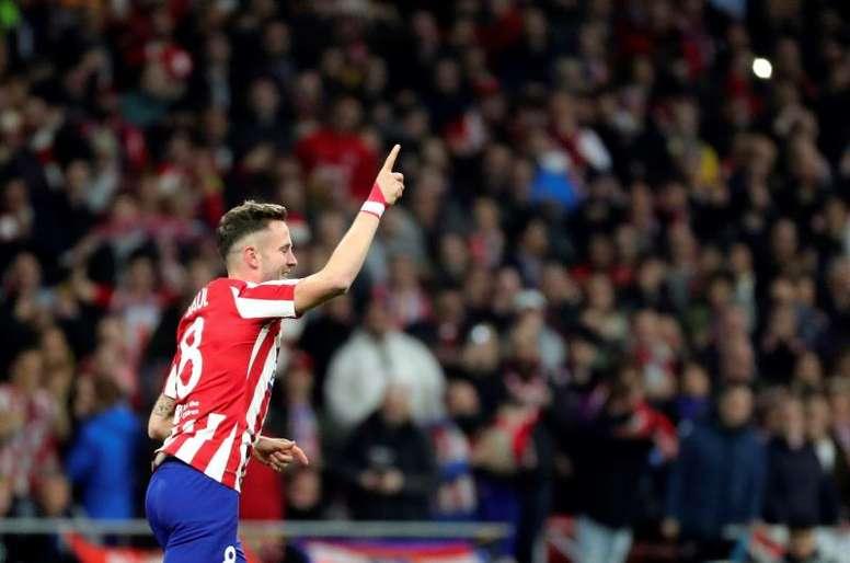 Saúl n'était pas au courant pour le chômage partiel de l'Atlético. EFE