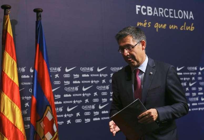 Bartomeu convoque une réunion d'urgence au Barça. AFP