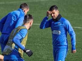 Un retour à l'entraînement 'surréaliste', pour Ángel. EFE