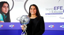 Kenti Robles recibió el premio otorgado por 'EFE'. EFE