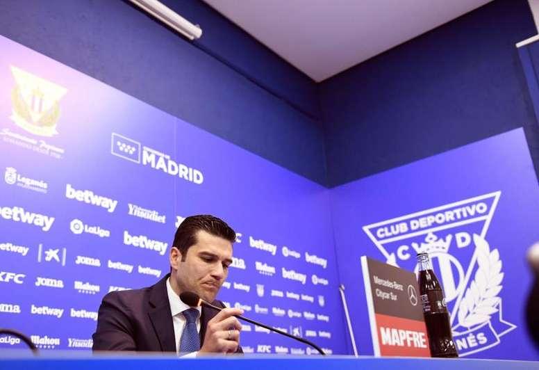 Leganés have been left without their main striker. AFP