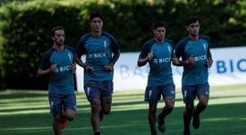 Kuscevic, tercero por la izquierda, estuvo en la cantera del Real Madrid. EFE