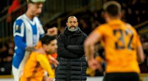 Nuno Espirito Santo, treinador português do Wolverhampton. EFE/EPA/PETER POWELL