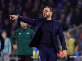 Bordalás confesó que la Champions no es el objetivo del Getafe. EFE