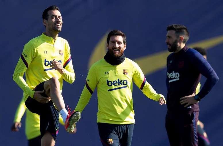 Les capitaines du Barça ne veulent pas baisser leurs salaires. AFP