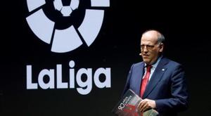 Javier Tebas defended the temporary redundancies. EFE