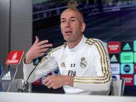 Zinedine Zidane spoke to the press ahead of Real Madrid's Levante clash. EFE