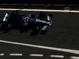 El piloto finlandés de Mercedes, Valtteri Bottas, durante la tercera jornada de entrenamientos oficiales de pretemporada de Fórmula Uno que se celebran en el circuito de Barcelona-Cataluña. EFE/Alberto Estévez