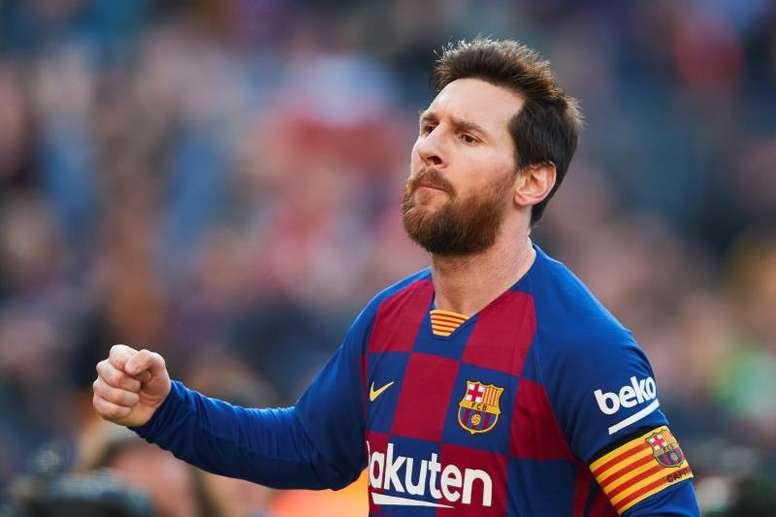 Messi faz quatro gols e coloca o Barça na liderança. EFE/Alejandro García