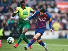 Poker di Messi al Camp Nou. EFE