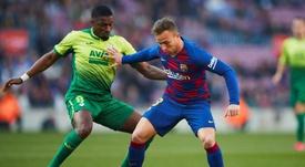 Arthur ended up making Barcelona fans angry. EFE