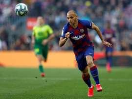 Braithwaite debutó con asistencia a Messi... y un tiro que acabó en gol de Arthur. EFE