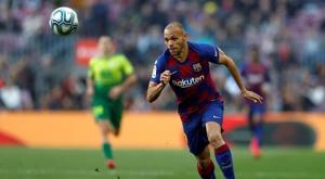 Braithwaite está convocado contra o Napoli. EFE/Alberto Estévez