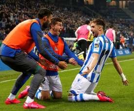 Januzaj habló sobre la acción del gol. EFE/Juan Herrero