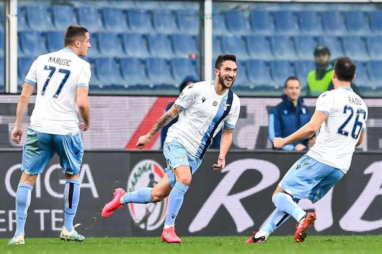 La Lazio venció al Genoa. EFE