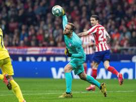 Jan Oblak é destaque do Atlético de Madrid na Champions League. EFE/Rodrigo Jiménez