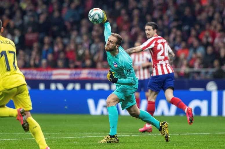 Jan Oblak é destaque do Atlético de Madrid na Champions League. EFE/Rodrigo Jiménez