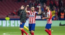 Koke volvió a jugar e, instantáneamente, la imagen del Atlético mejoró. EFE