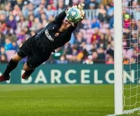 Marc-André ter Stegen fala sobre o Barça. EFE/Alejandro García