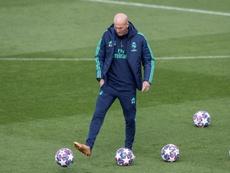 Zidane habló sobre la lesión de Hazard. EFE/Rodrigo Jiménez