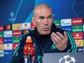 Conférence de presse d'avant match de Zidane. EFE